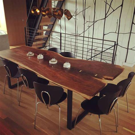 jw woodworks walnut slab table in arm r seal general finishes design