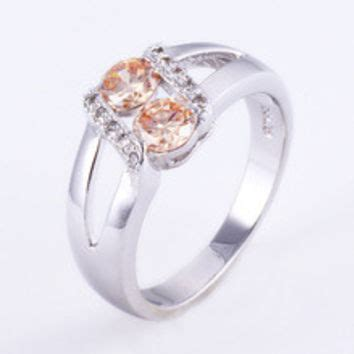 Cincin Cz Sapphire Amethyst Wedding Ring White Gold 925 Solid S best morganite rings products on wanelo
