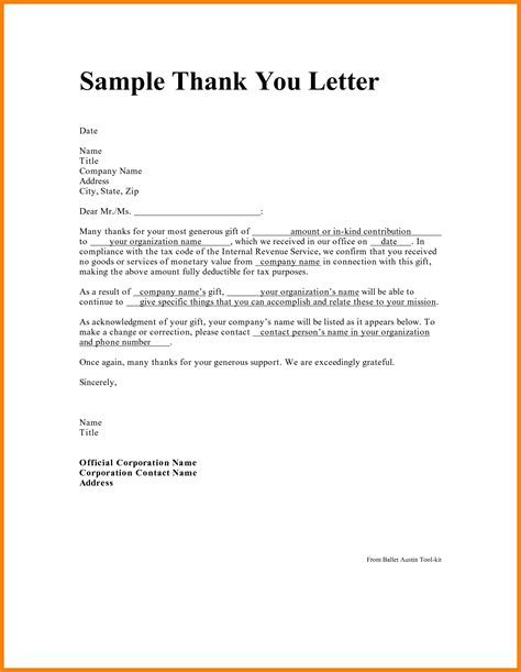 Thank You Letter To 5 Sles Of Thank You Letters Of Appreciation Hr Cover Letter