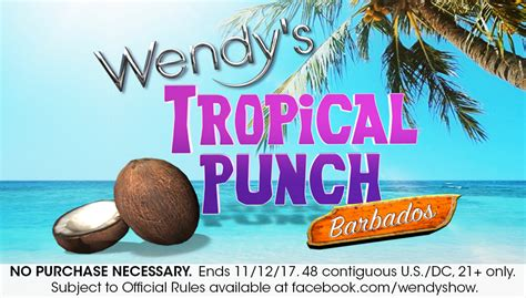 Wendyshow Com Giveaway - wendy s tropical punch sweepstakes the wendy williams show