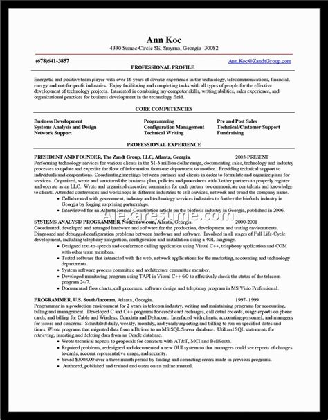 Resume Competencies Examples Telecommunications Communication Resume