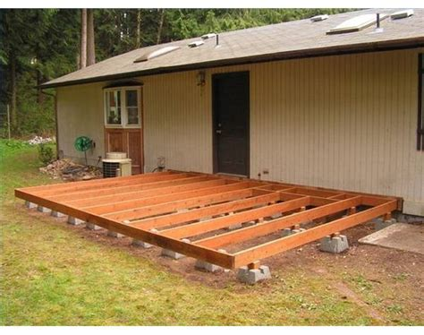 building a backyard deck how to build a deck using deck blocks decking backyard
