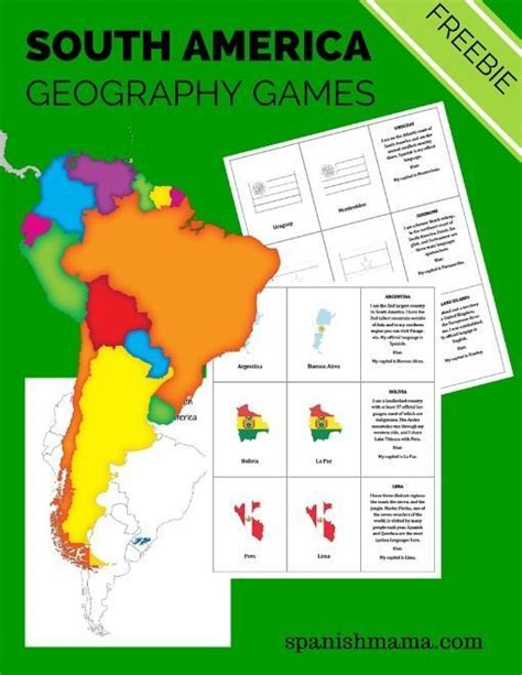 Printable Geography Games | south america geography games free printable i am and