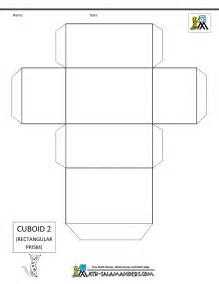 Cuboid Net Template Printable by 3d Geometric Shapes Nets