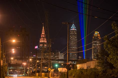 downtown cleveland lights aha festival of lights illuminates the atmosphere of