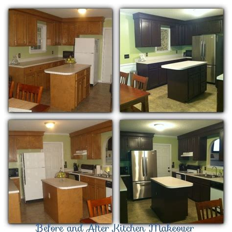 5 diy kitchen cabinet upgrade ideas angie s list before and after diy kitchen makeover with rustoleum