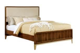 fabric headboard bedroom sets tychus 5pc bedroom set cm7559f in dark oak w fabric headboard