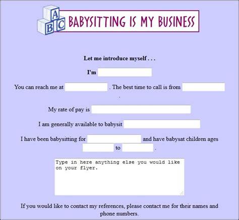 Best 25 Babysitting Flyers Ideas On Pinterest Babysitting Babysitting Jobs Near Me And Babysitting Flyer Template Docs