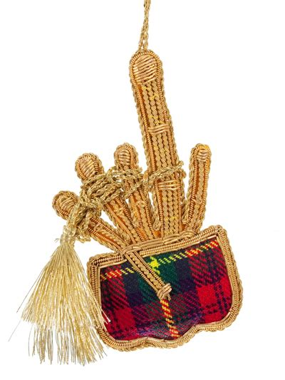 tartan bagpipes christmas tree decoration