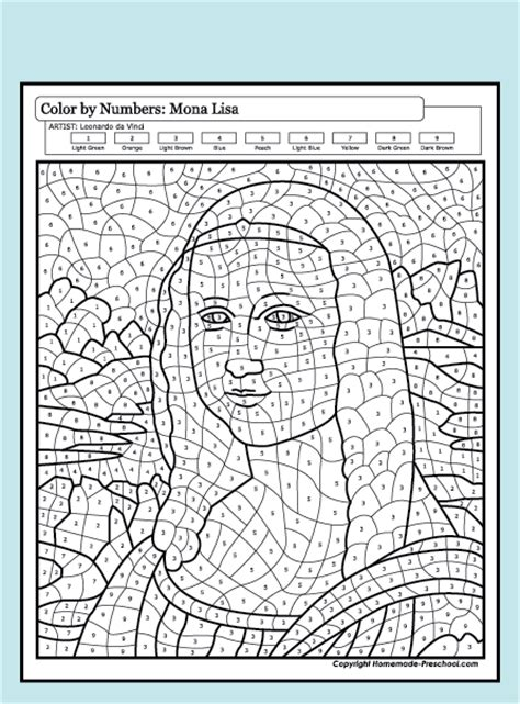 Fun And Interactive Preschool Worksheets Da Vinci Printable Coloring