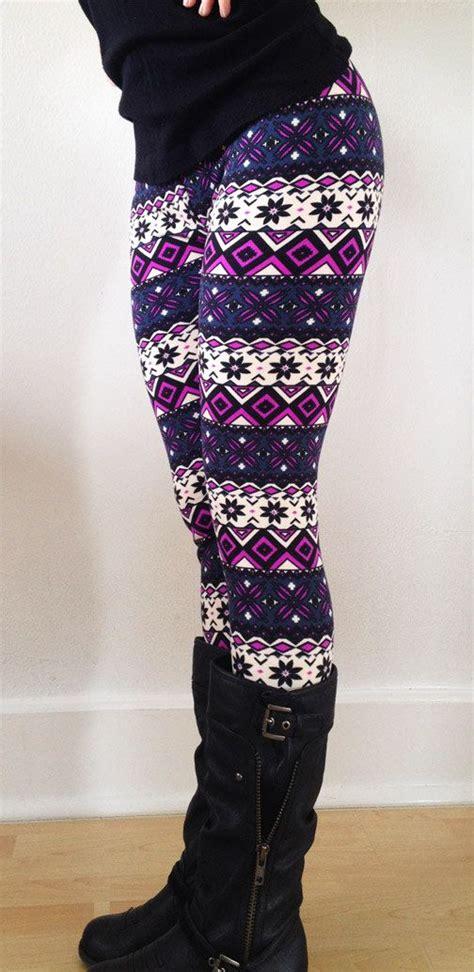 pattern leggings ideas tribal leggings snow and flower on pinterest