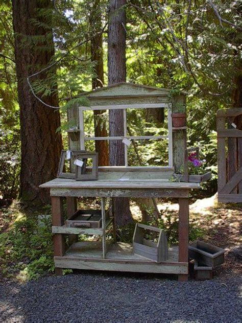 How To Build A Potting Shed by Creative Potting Shed Tables For The Do It Yourself Er