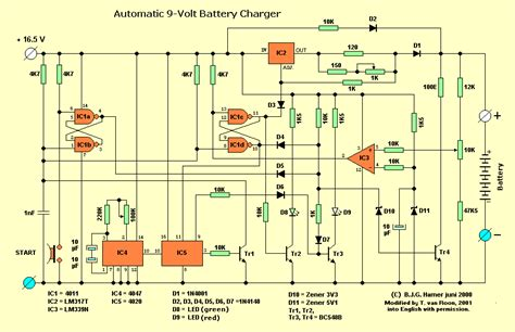 nicd battery charger circuit diagram simple 9v automatic battery nicd charger circuit diagram