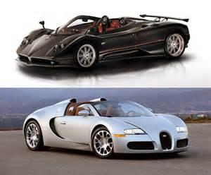 Bugatti Vs Pagani Zonda Bugatti Veyron Vs The Pagani Zonda F Ruelspot
