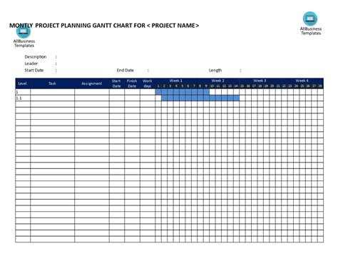 gantt chart template word gantt chart word document template exle of spreadshee
