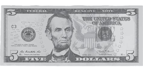 abraham lincoln on dollar free vector graphic dollar five money lincoln free