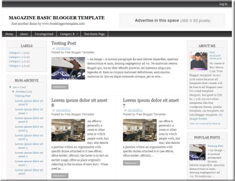 professional templates for blogger free 7 best free blogger templates for 2012 the tech next