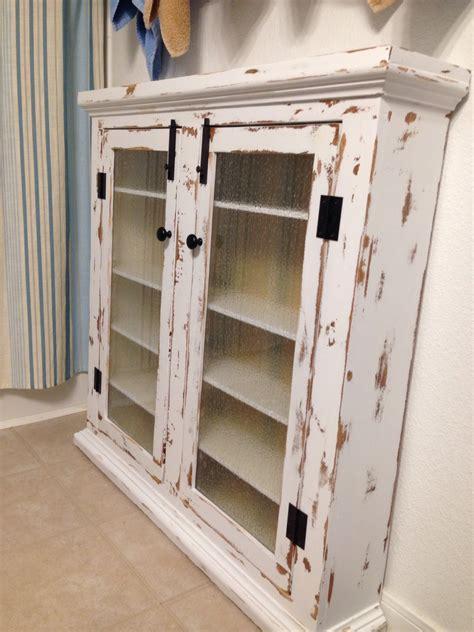 Furniture. Diy Distressed Corner Wall Medicine Cabinet