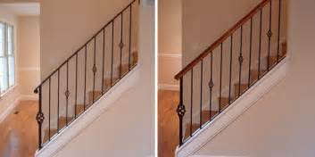 metal stair rails and banisters spicing up your existing all metal balustrade with the