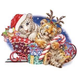 items similar to cute christmas tiger cubs on santa s
