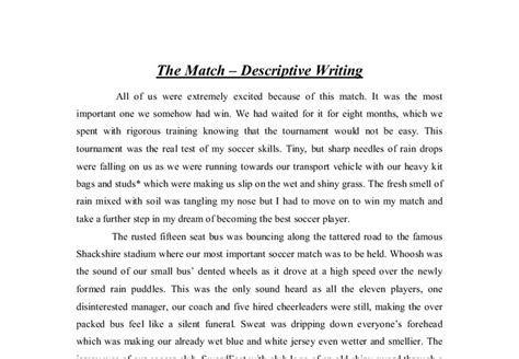 Descriptive Essay Conclusion by Write Descriptive Essay