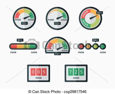 doodle free credit report credit score indicators and gauges vector vector eps