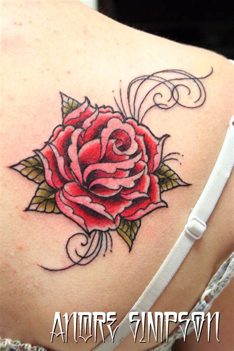 green rose tattoo 1 by erasotron on deviantart