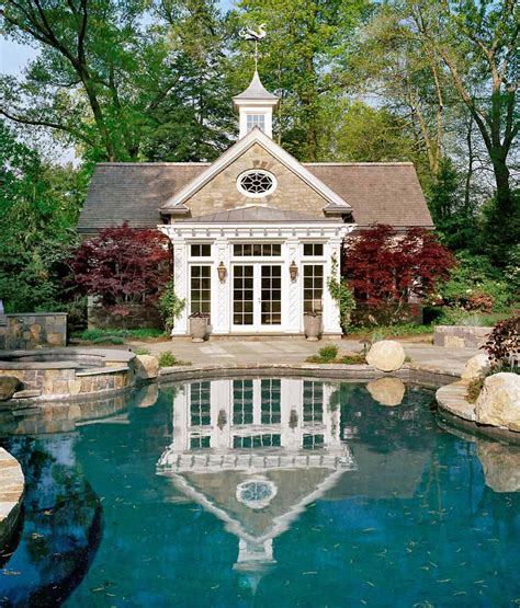 English Cottage House douglas vanderhorn architects colonial pool house