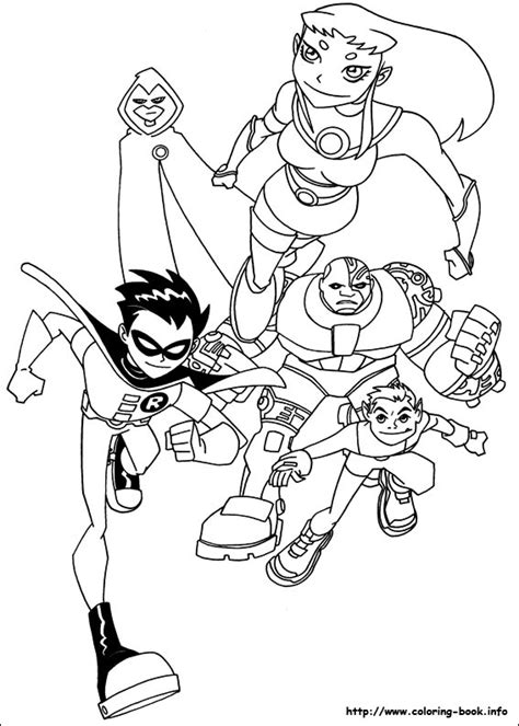 teen titans coloring pages coloring home