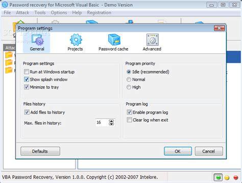 vba recovery password crack download vba password recovery 1 1 0
