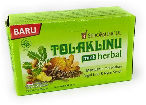 Sido Muncul Tolak Linu Herbal by Sido Muncul Tolak Linu Mint Herbal 5 Ct 75 Ml 2 5 Fl Oz