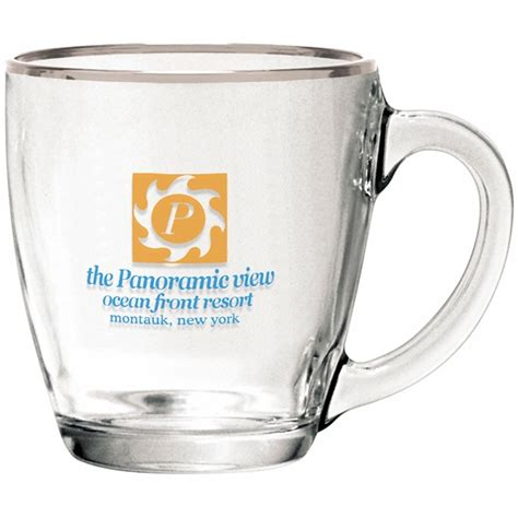 clear coffee mug promotional 16 oz clear glass bistro coffee mug customized 16 oz clear glass bistro coffee
