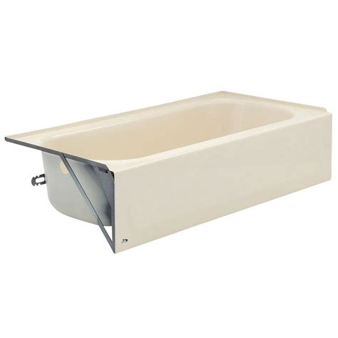 bootz bathtubs bootz industries aloha 5 ft left hand drain soaking tub