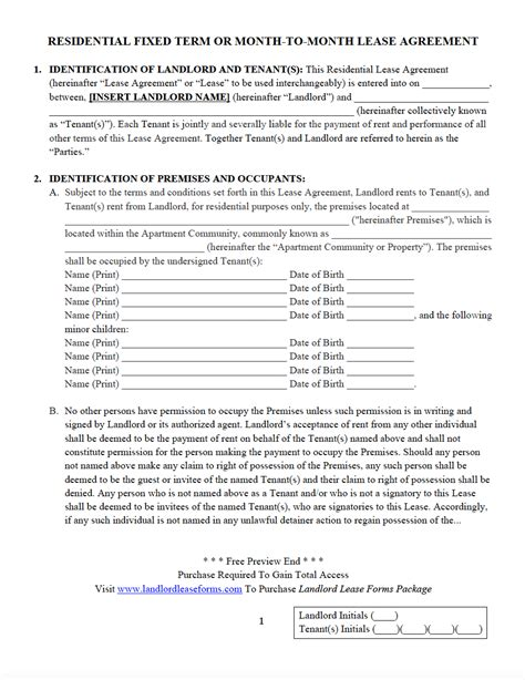 Landlord Lease Forms Residential Lease Agreements Download Save Print Fixed Term Lease Agreement Template
