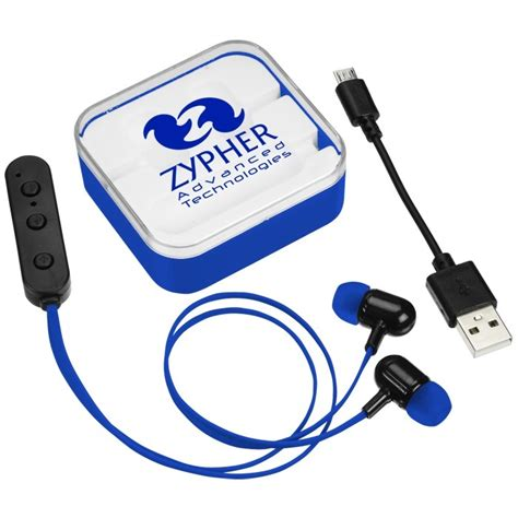 Speaker Portable Wirelles Necxo Ls 311 12 4imprint color pop bluetooth ear buds 143083 imprinted with your logo