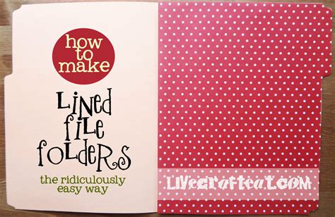 How To Make A File Folder With Paper - decorative file folders how to line a file folder live