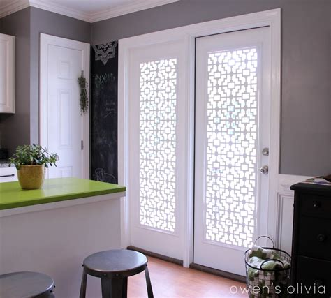 Owen S Olivia Custom Window Treatments Using Pvc Window Covering For Patio Door