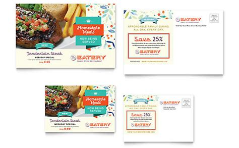 Postcard Templates   InDesign, Illustrator, Publisher, Word