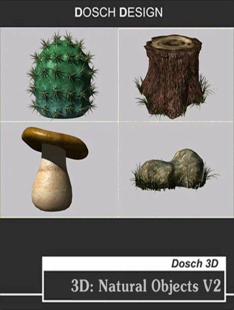 dosch 3d natural objects v2