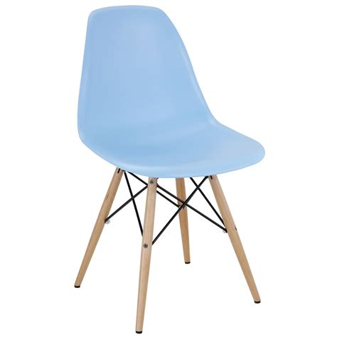 modway pyramid dining side chair in light blue beyond stores