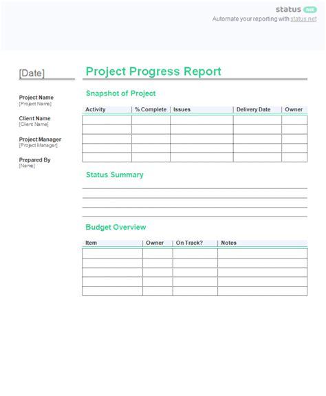 2 project progress report templates free