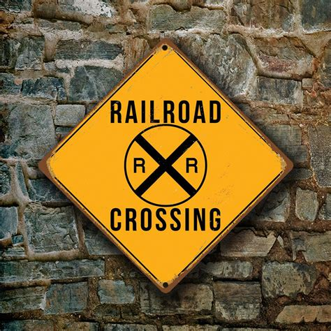 railroad sign yellow railroad crossing signs reserved