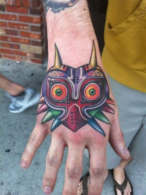 majora s mask tattoo the o jays heroes and mask on