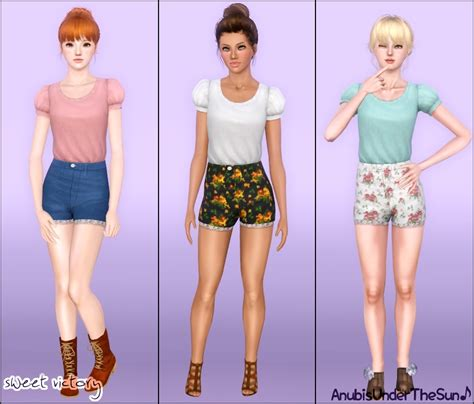 sims 3 outfits my sims 3 blog sweet victory outfit for teen adult