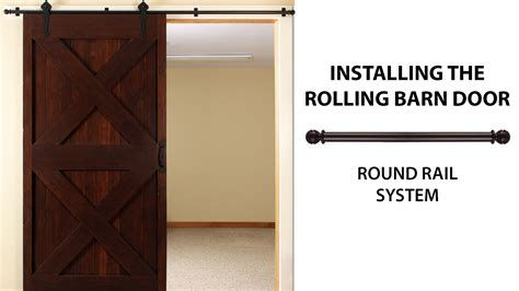 rolling barn doors how to install the rolling barn door simple smooth oh