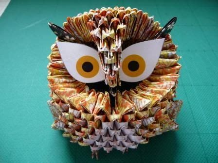Modular Origami Owl - how to make 3d origami owl http www papercraftcentral