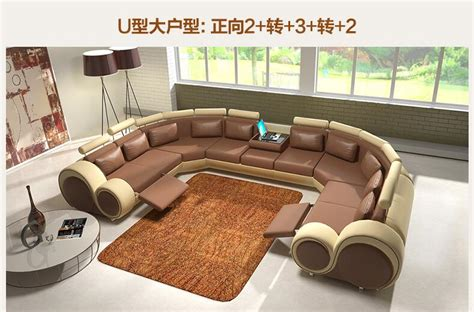 Top Couches by U Shape Cowhide Leather Top Grain Genuine Leather Corner