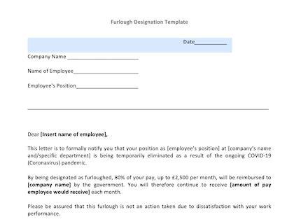 furlough due covid coronavirus info letter