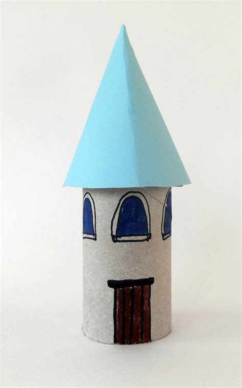 Toilet Paper Roll Castle Craft - craftsboom princess castle