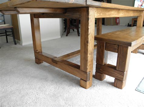 farmhouse table with bench ana white farmhouse table bench and extensions diy